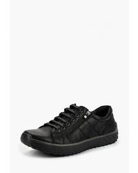 Мужские черные кожаные низкие кеды от Tesoro