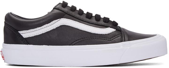 Мужские черные кожаные низкие кеды от Vans   Где купить и с чем носить fc0500682e4