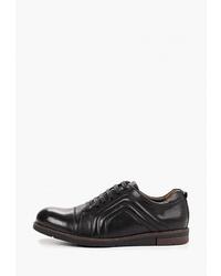 Мужские черные кожаные низкие кеды от Vitacci