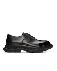Черные кожаные оксфорды от Alexander McQueen