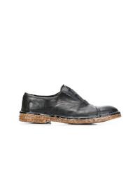 Черные кожаные оксфорды от Premiata