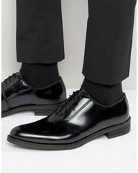Мужские черные кожаные оксфорды от Zign Shoes