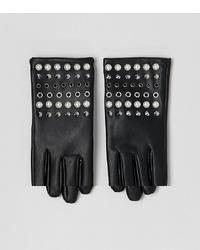 Женские черные кожаные перчатки с шипами от ASOS DESIGN