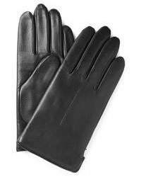 Мужские черные кожаные перчатки от A.P.C.