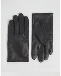 Женские черные кожаные перчатки от Asos