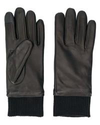 Мужские черные кожаные перчатки от Calvin Klein Jeans