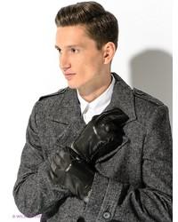 Мужские черные кожаные перчатки от Dali Exclusive