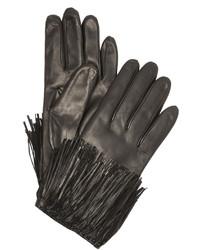 Женские черные кожаные перчатки от Diane von Furstenberg