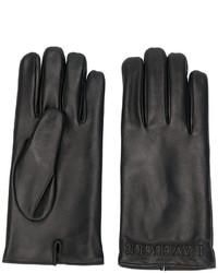 Мужские черные кожаные перчатки от Gucci