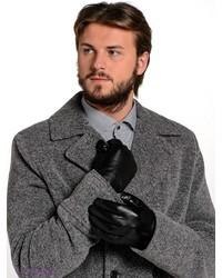 Мужские черные кожаные перчатки от Labbra