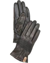 Женские черные кожаные перчатки от Mackage