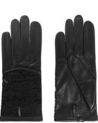 Женские черные кожаные перчатки от Nina Ricci