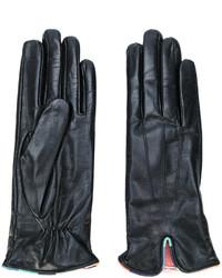 Женские черные кожаные перчатки от Paul Smith