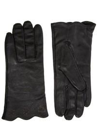 Женские черные кожаные перчатки от Totes