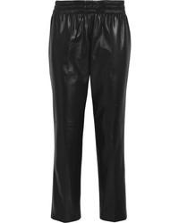 Черные кожаные пижамные штаны