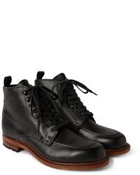 Черные кожаные повседневные ботинки
