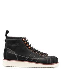 Мужские черные кожаные повседневные ботинки от adidas