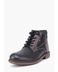 Мужские черные кожаные повседневные ботинки от Airbox