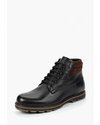 Мужские черные кожаные повседневные ботинки от Alessio Nesca