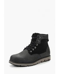 Мужские черные кожаные повседневные ботинки от Ascot