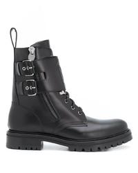 Мужские черные кожаные повседневные ботинки от Balmain