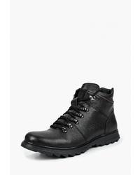 Мужские черные кожаные повседневные ботинки от Der Spur