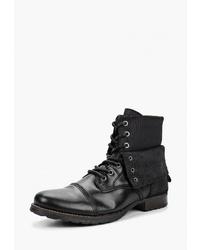 Мужские черные кожаные повседневные ботинки от El Tempo