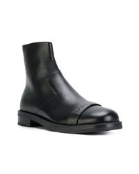Мужские черные кожаные повседневные ботинки от Neil Barrett