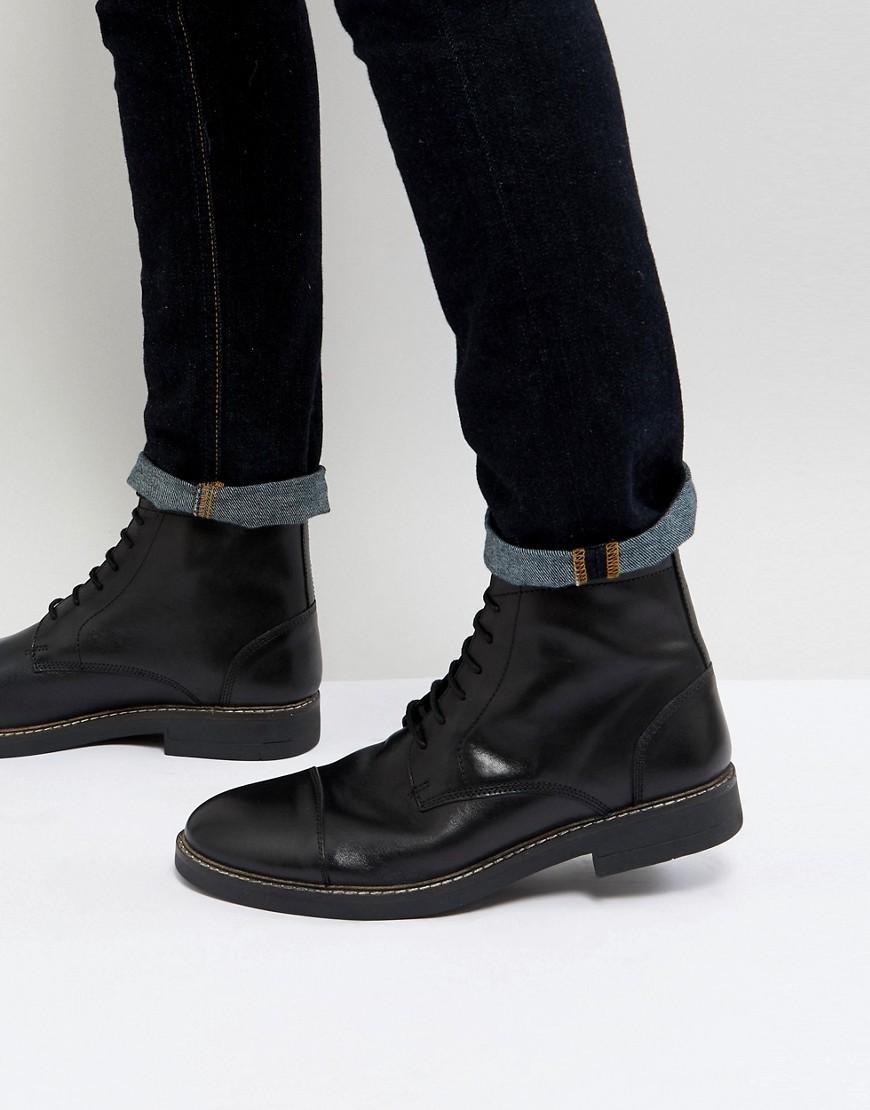 Мужские черные кожаные повседневные ботинки от Frank Wright