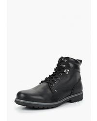 Мужские черные кожаные повседневные ботинки от Geox