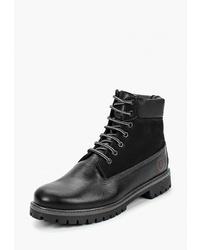Мужские черные кожаные повседневные ботинки от Goodzone