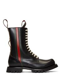 Мужские черные кожаные повседневные ботинки от Gucci