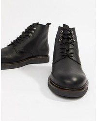 Мужские черные кожаные повседневные ботинки от H By Hudson