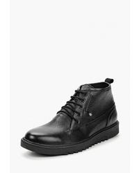Мужские черные кожаные повседневные ботинки от HCS