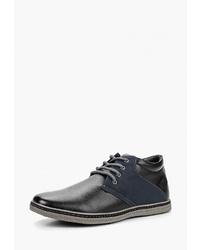 Мужские черные кожаные повседневные ботинки от Instreet