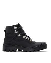 Мужские черные кожаные повседневные ботинки от Loewe