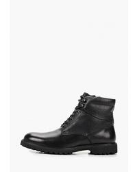 Мужские черные кожаные повседневные ботинки от M.Shoes