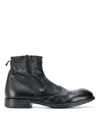 Мужские черные кожаные повседневные ботинки от Moma