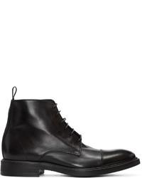 Мужские черные кожаные повседневные ботинки от Paul Smith