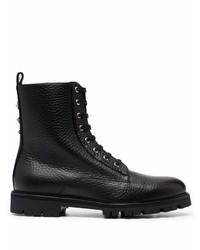 Мужские черные кожаные повседневные ботинки от Philipp Plein