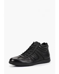 Мужские черные кожаные повседневные ботинки от Pierre Cardin