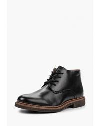 Мужские черные кожаные повседневные ботинки от Pradella