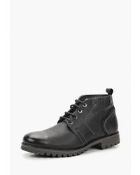 Мужские черные кожаные повседневные ботинки от Salamander