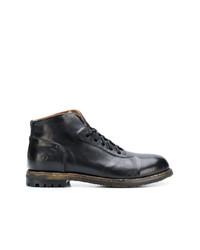 Мужские черные кожаные повседневные ботинки от Silvano Sassetti