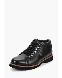 Мужские черные кожаные повседневные ботинки от Thomas Munz