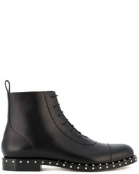 Мужские черные кожаные повседневные ботинки от Valentino Garavani