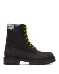 Мужские черные кожаные повседневные ботинки от Vetements