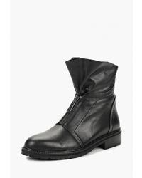 Черные кожаные полусапоги от Brulloff