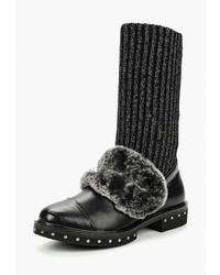 Черные кожаные полусапоги от Dino Ricci Trend