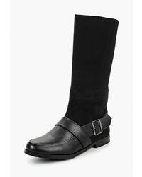 Черные кожаные полусапоги от Luvelena